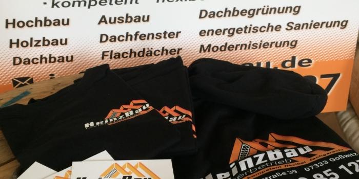 Neue Geschäftsausstattung für die Firma Heinz Bau