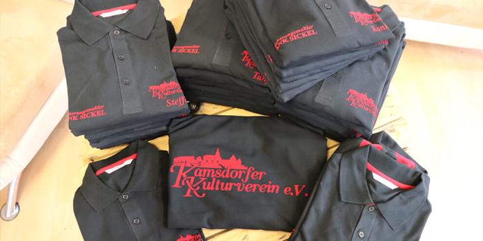 Textildruck | Beflockung Vereinsshirts Kamsdorfder Kulturverein