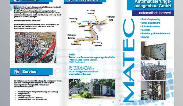 6-Seiten Flyer MATEC Rudolstadt