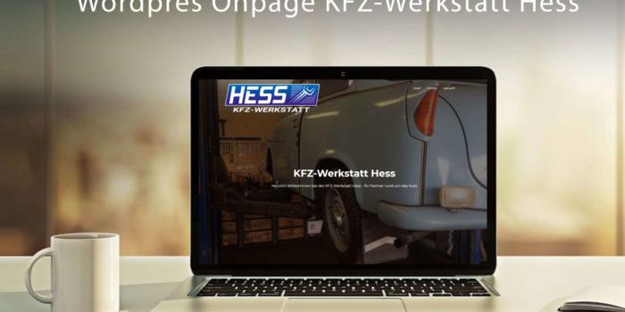 Erstellung On Page Website KFZ Werkstatt Heß