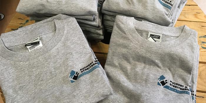 2-farbiger Transferdruck Arbeitsshirts & Poloshirts